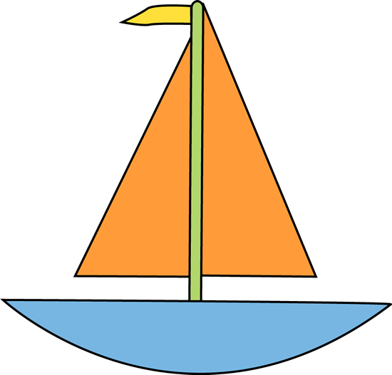 Simple clipart boat #3