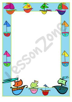 Sailboat clipart border Border Craze Art can Borders