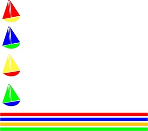 Sailboat clipart border Page Sailboats Toy Graphic Art