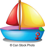 Yacht clipart bote Boat on colorful A Photos