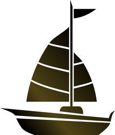Brown clipart sailboat Elements Simple Sailboat Clip CuttingFiles