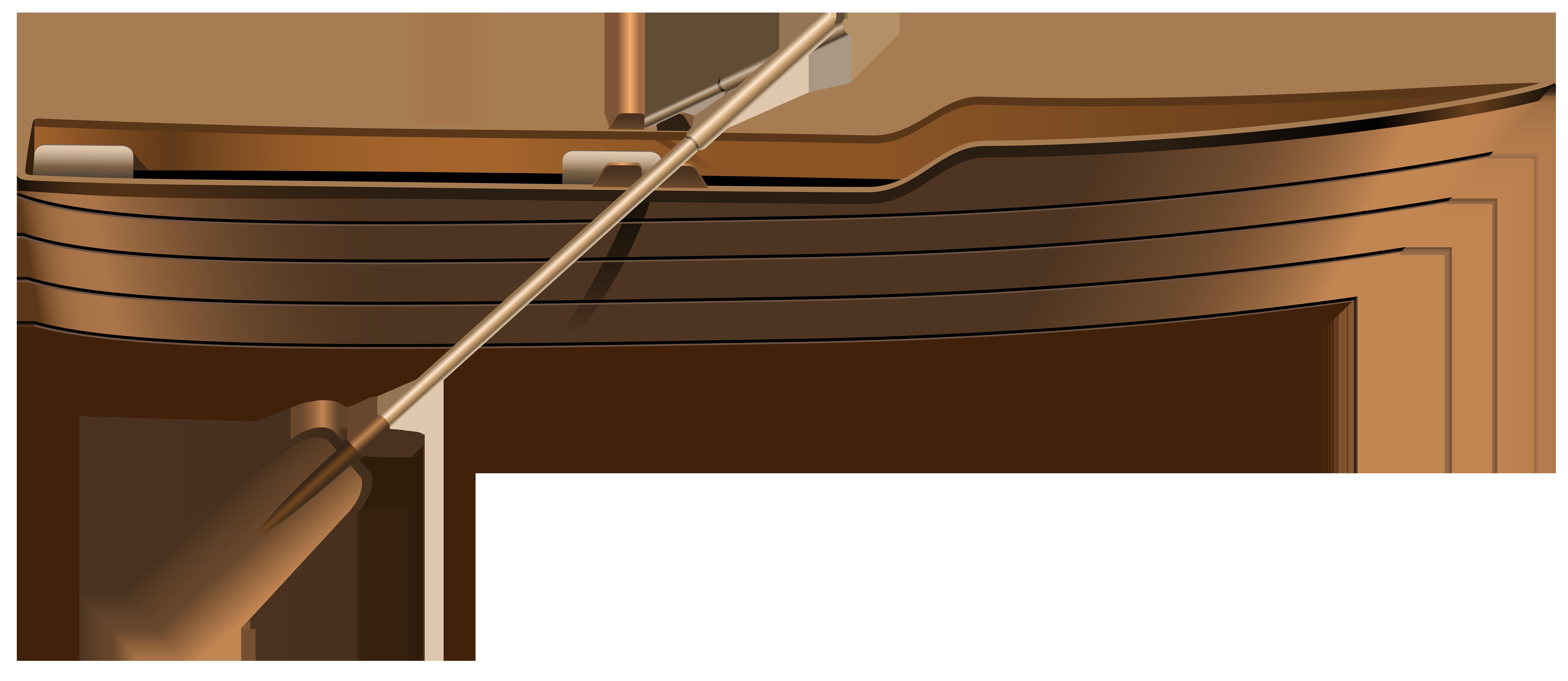 Canoe clipart wooden canoe Wooden Boat PNG Art WEB