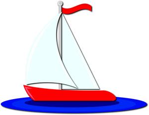 Boat clipart one The boat art Clipartix cartoon