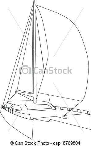 Sailing clipart catamaran #6
