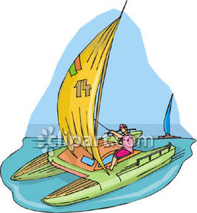 Sailing clipart catamaran #7