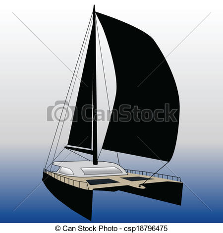 Sailing clipart catamaran #3