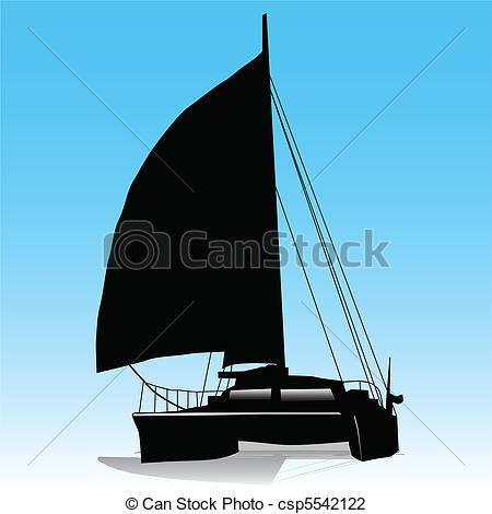 Sailing clipart catamaran #1