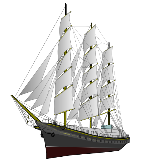 Sailing Boat clipart clipper ship A middle Public Art of