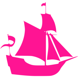Pink clipart sailboat Pink Free icon pink Deep