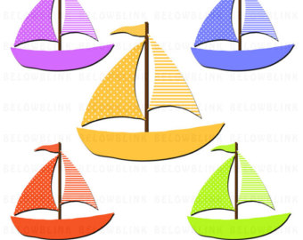 Sailing Boat clipart boating Clipart Commercial Scrapbooking Use Sail
