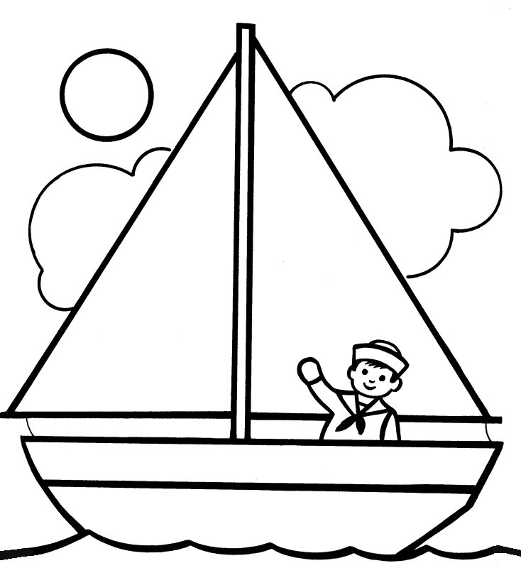 Sailing Ship clipart colouring page Pinterest Boats Pages  Coloring