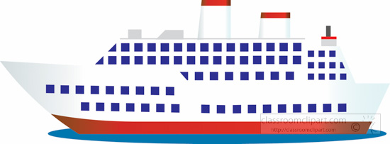 Boat clipart passenger ship Boats and ships cruise large