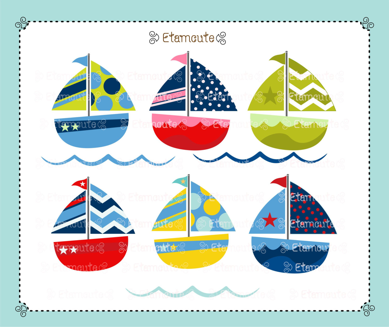 Sailing clipart cute Art Like sailboat art clip