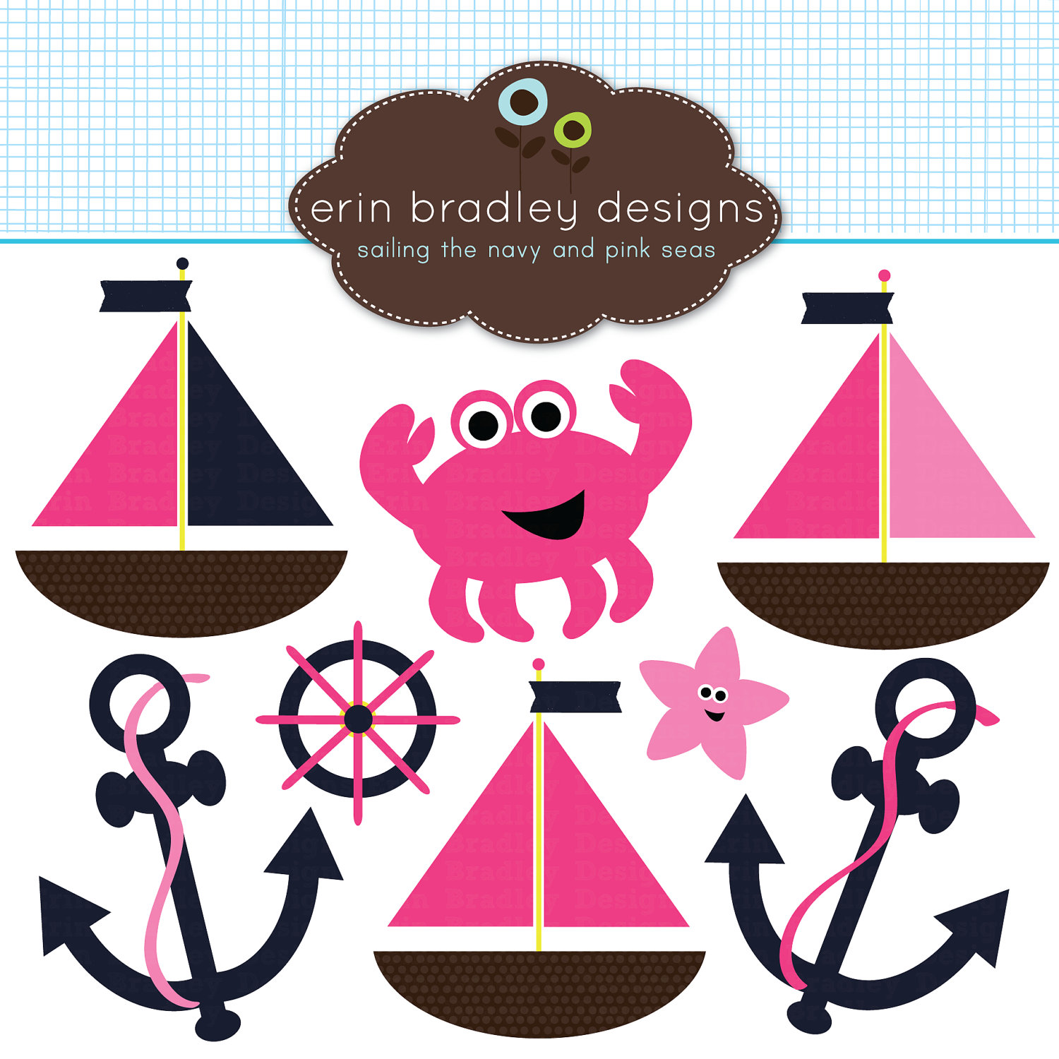 Pink clipart nautical Pink Nautical Wheel Clipart Nautical