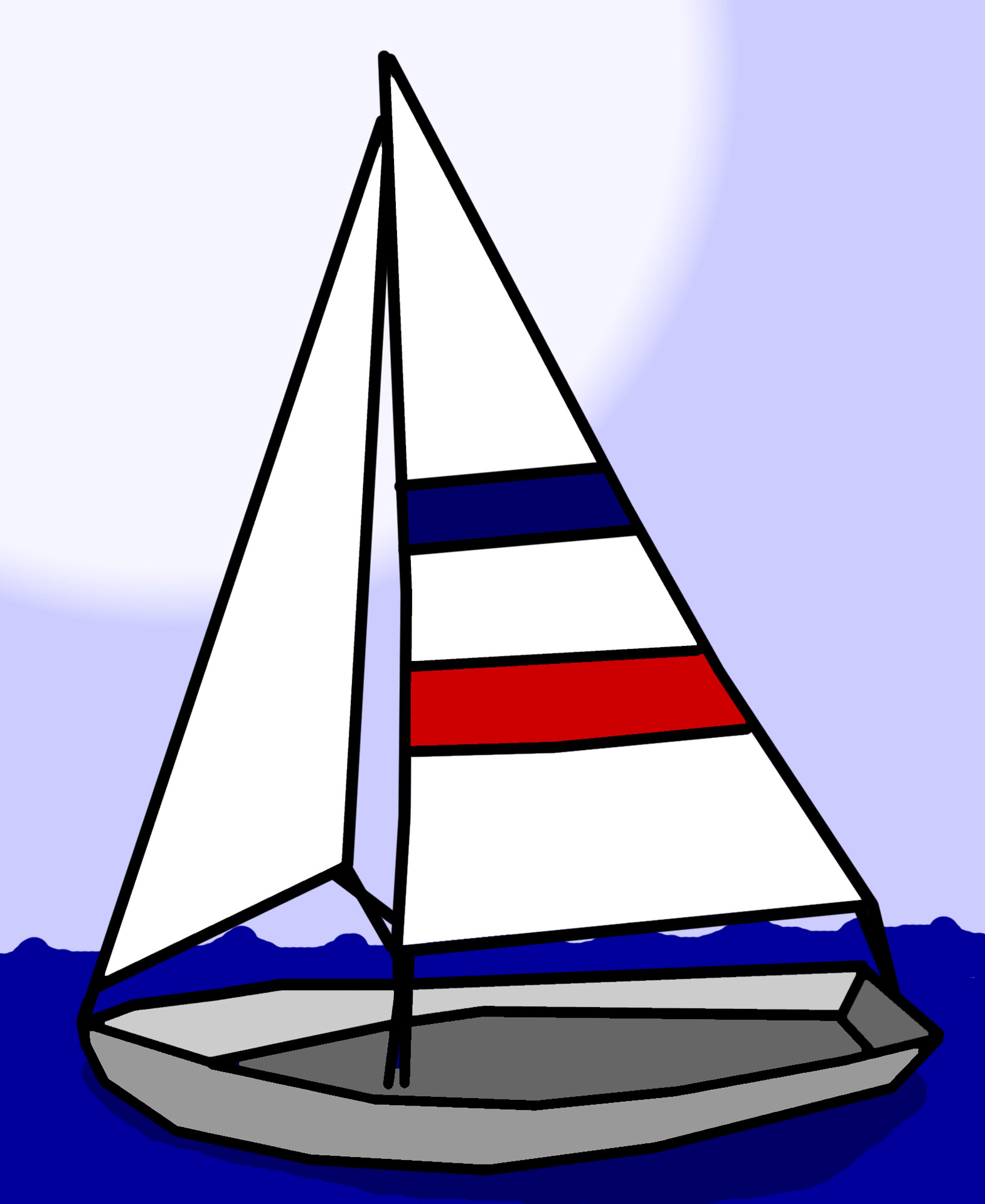 Sailboat clipart two Clipart clipartix domain boat free
