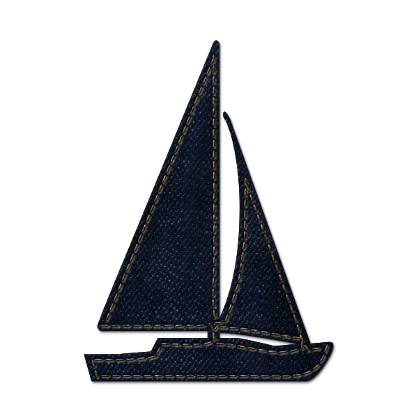 Sailing Boat clipart navy blue » Full Set: Sailboat Sailboat
