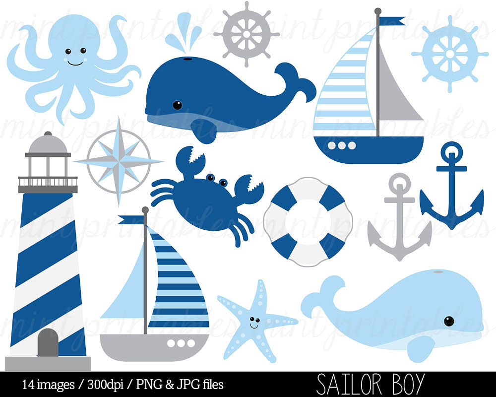 Weaves clipart blue boat #2