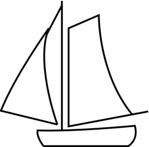 Boat clipart line drawing And Black Clipart & Free