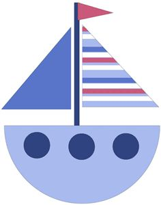 Sailing clipart blue sailboat Crochet images Nautical/Marine on best