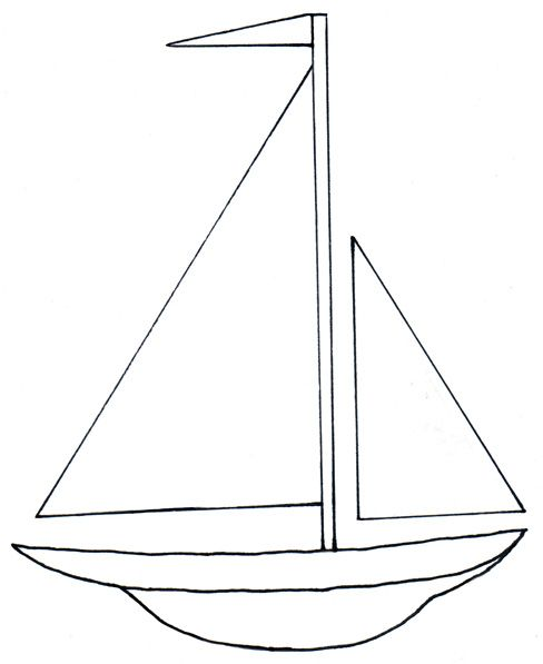 Simple clipart boat #8