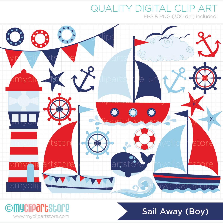 Sailor clipart boat Commercial graphics ocean Sailing Sail