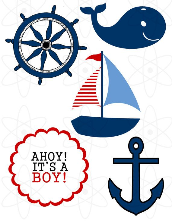 Sailboat clipart nautical baby shower Nautical Shower Shower  theme