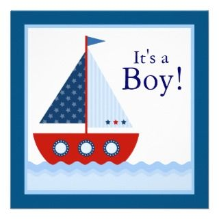 Sailboat clipart nautical baby shower NAUTICAL CLIP Boy SHOWER sailboat