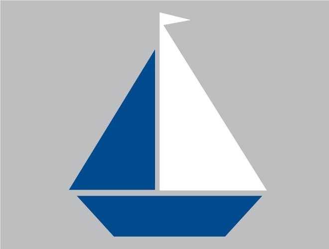 Sailboat clipart navy blue #5