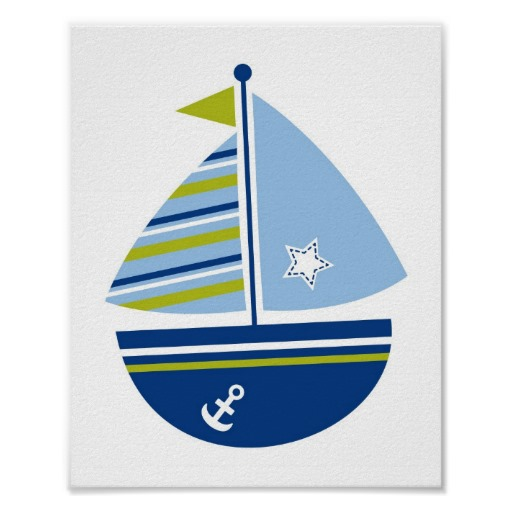 Sailing Boat clipart navy blue ~ Blue Sailboat Blue 6949