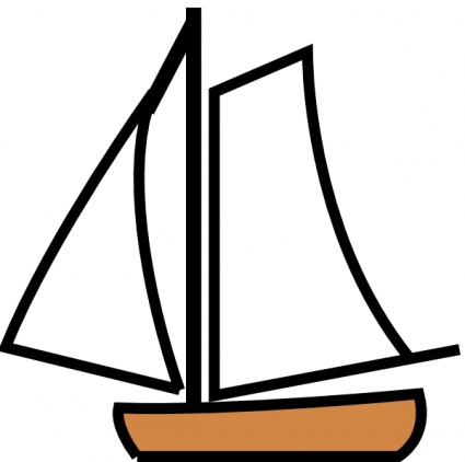 Boat clipart illustration Clip Sailboat on Clipart Outline