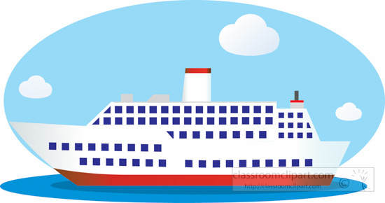 Sailboat clipart passenger ship #13