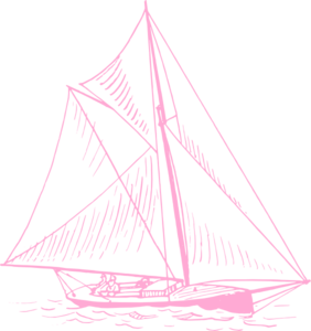 Pink clipart sailboat Clip com Clker Sailboat
