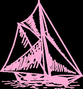 Boat clipart pink boat Pink vector Art com Clker