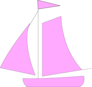 Pink clipart sailboat Com at  Art Sail