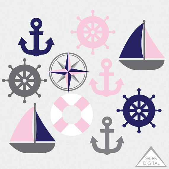 Pink clipart nautical Nautical and Light Pink Clipart