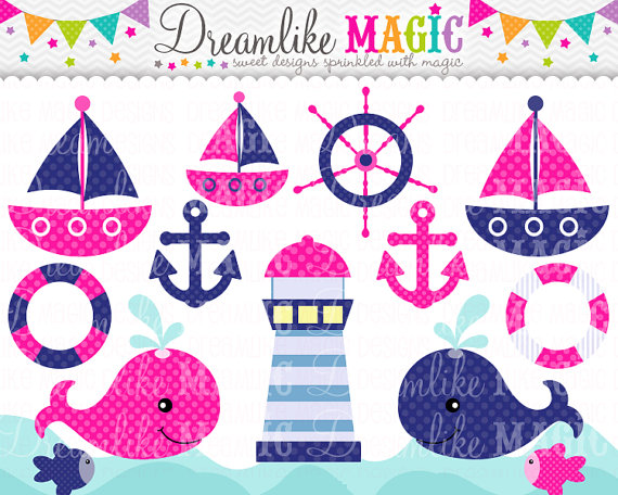 Pink clipart nautical Pink Clipart for Personal and