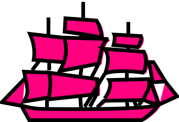 Pink clipart sailboat Clip com Clker this royalty