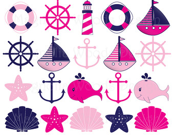 Pink clipart sailboat Art Sailboat Art Clip Etsy