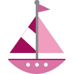 Boat clipart pink boat Pink Sailboat Sailing Sailboat