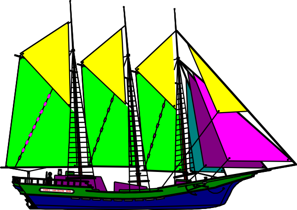 Sailboat clipart purple #5