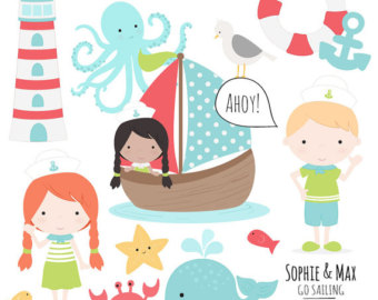 Sailboat clipart two Mermaids Clipart Clipart Glitter in