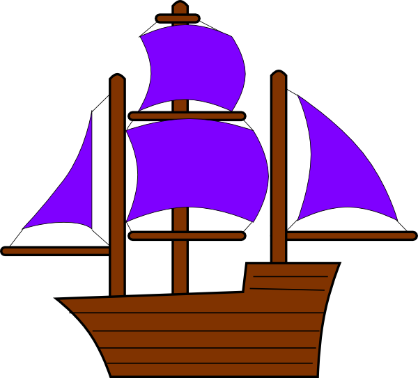 Sailboat clipart purple #9