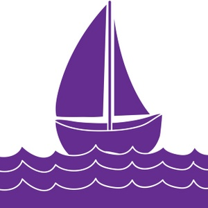 Sailboat clipart purple #2
