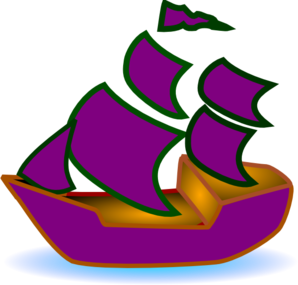Sailboat clipart purple #1