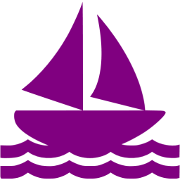 Sailboat clipart purple #4