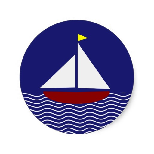 Sailing Boat clipart navy blue And Red Clipart Panda Info