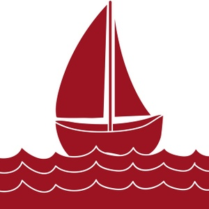 Yacht clipart red boat A red red Clip