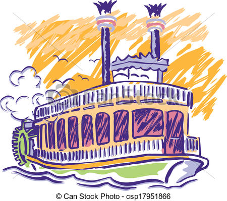 Steam clipart paddle boat Vector csp17951866 Wheel Paddle steam
