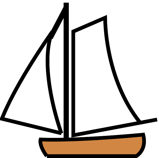 Simple clipart boat #6