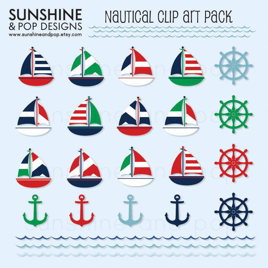 Sailing Boat clipart themed Cliparts  Clip Free Nautical